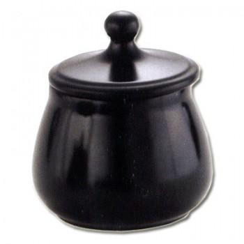 Tabaktopf Keramik schwarz