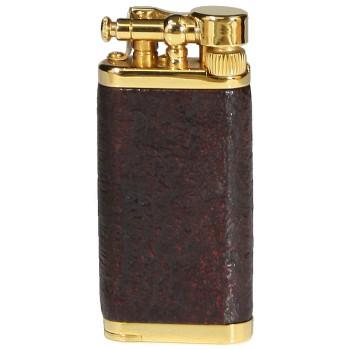 Pfeifenfeuerzeug Corona Old Boy vergoldetes Messing/sandgestrahltes Bruyere