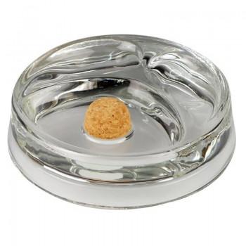 Pfeifenascher Glas rund mit 2 Pfeifenablagen