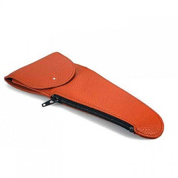 Dunhill White Spot Pipe Holster, terracotta
