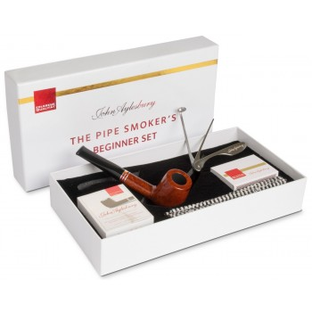 Pfeife John Aylesbury The Pipe Smoker's Beginner Set Billiard Hellbraun