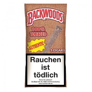 Zigarren Backwoods Authentic (Aromatic-Vanille)