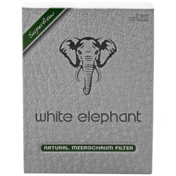 Meerschaumfilter White Elephant 9mm 150 Stk.