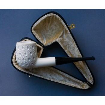 Pfeife Block Meerschaum Carved Billiard