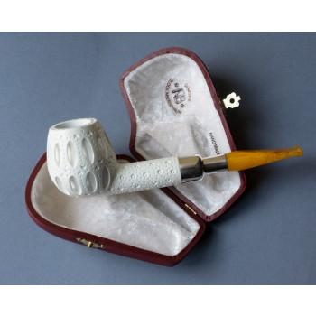 Pfeife Andreas Bauer Meerschaum Spigot Apple Carved