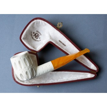 Pfeife Andreas Bauer Meerschaum Billiard Carved