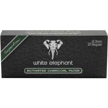 Aktivkohlefilter White Elephant 9mm 20 Stk.