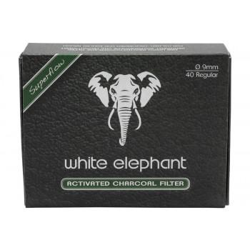 Aktivkohlefilter White Elephant 9mm 40 Stk.