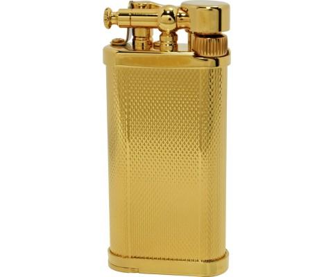 Pfeifenfeuerzeug Corona Old Boy Vergoldetes Messing/ gekörnt