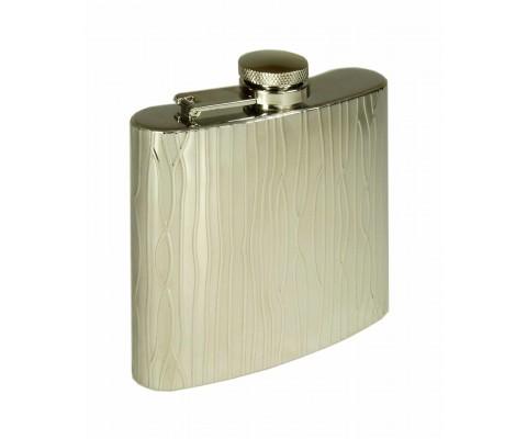 Flachmann Flask chrom poliert/strukturiert
