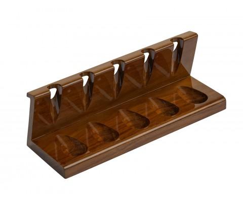 Pfeifenständer aus Sheeshamholz für 5 Pfeifen
