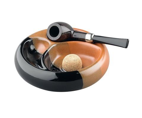 Pfeifenascher Keramik schwarz/braun