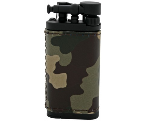 Pfeifenfeuerzeug Corona Old Boy Schwarz/Camouflage