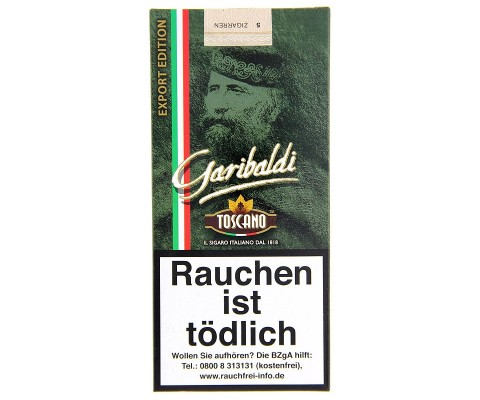 Zigarillos Toscano Garibaldi Export Edition