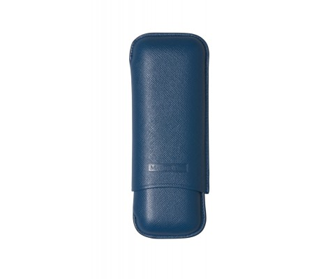 Zigarrenetui Martin Wess 2er Corona blau