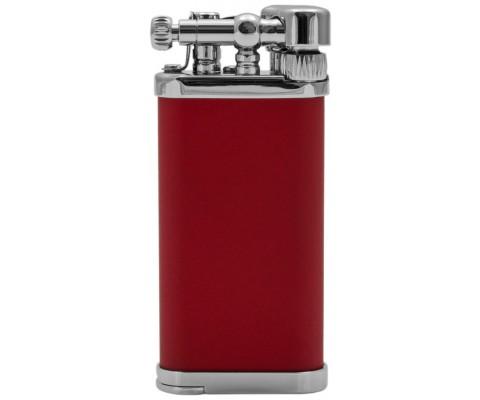 Pfeifenfeuerzeug Corona Old Boy chrom/rot seidenmatt