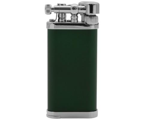 Pfeifenfeuerzeug Corona Old Boy chrom/grün seidenmatt