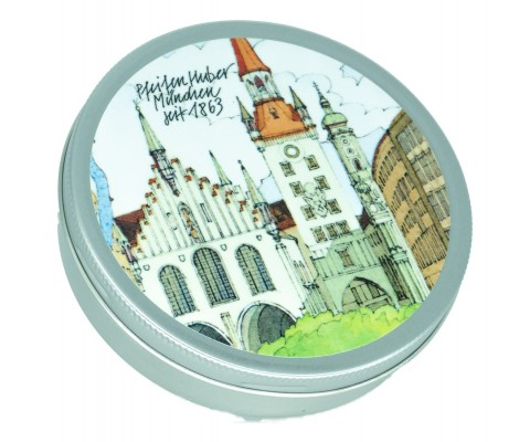 """Huber Pfeifentabak Umfülldose """"Rathaus"""" für 50 gr."""