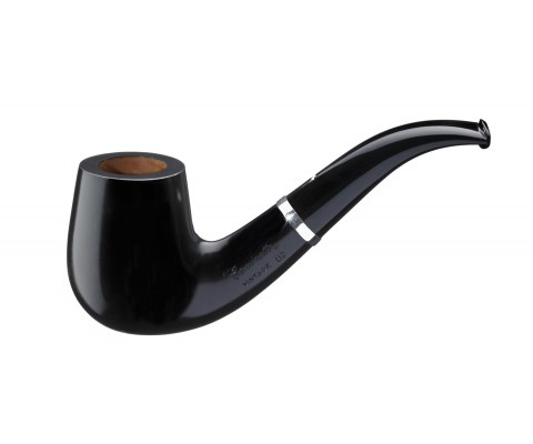 Pfeife Caminetto Vintage Nero Bent