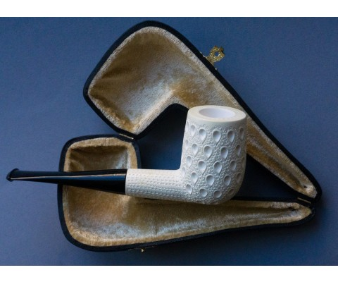 Pfeife Block Meerschaum Carved Billiard