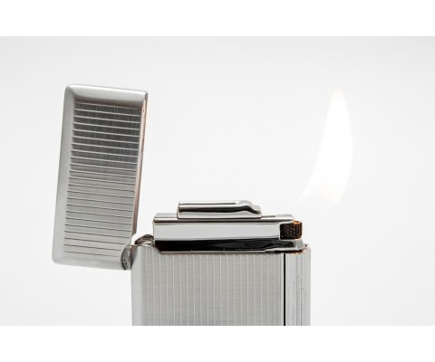 Pfeifenfeuerzeug Rattray's Bel Chrome Stripe