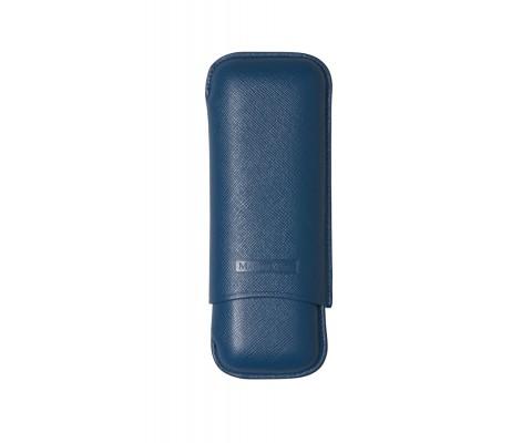 Zigarrenetui Martin Wess 2er Robusto blau