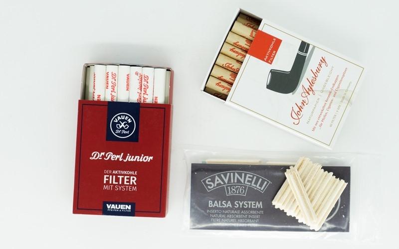 Pfeife rauchen mit Filter